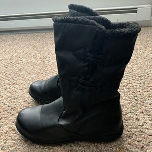 Totes Boots Black Winter Warm